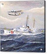 Coast Guard Cutter Pontchartrain And Coast Guard Aircraft  Acrylic Print