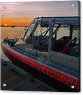 Coast Guard Response Boat At Sunset Acrylic Print