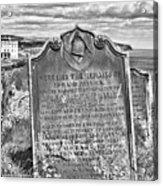 Coast - Whitby Freemason Grave Acrylic Print