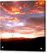 Costa Rican Mountain Valley Sunset Acrylic Print