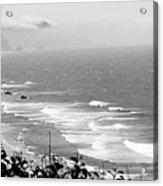 Coastal Bandw Acrylic Print