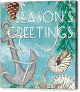 Coastal Christmas Card Acrylic Print