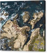 Coastal Crevices Acrylic Print