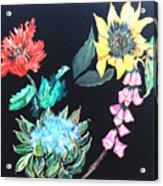 Coastal Floral Acrylic Print