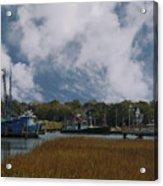 Coastal Island Town Acrylic Print