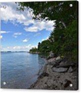 Coastal Maine's Rocky Shore On A Beautiful Summer Day Acrylic Print