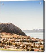 Coastal Tasmanian Town Acrylic Print