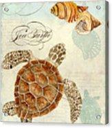 Coastal Waterways - Green Sea Turtle Rectangle 2 Acrylic Print