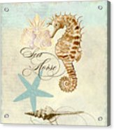Coastal Waterways - Seahorse Rectangle 2 Acrylic Print