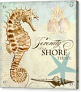 Coastal Waterways - Seahorse Serenity Acrylic Print
