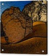 Coast.dunes.rocks Acrylic Print
