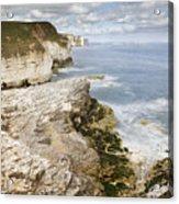 Coastline Viewed From Thornwick Bay Flamborough Acrylic Print