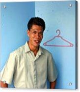 Coat Hanger Smile 2 Acrylic Print by Jez C Self