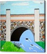 Cobblestone Bridge Acrylic Print