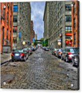 Cobblestone Brooklyn From Dumbo Acrylic Print