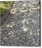 Cobblestone Path In A Park Acrylic Print