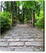 Cobblestone Path To Wood Bridge Acrylic Print