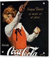 Coca-cola Ad, 1923 Acrylic Print by Granger