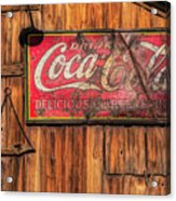 Coca Cola Barn Acrylic Print