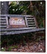 Coca Cola Bench Acrylic Print