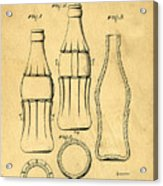 Coca Cola Bottle Patent Art 1937 Blueprint Drawing Acrylic Print