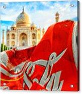 Coca-cola Can Trash Oh Yeah - And The Taj Mahal Acrylic Print