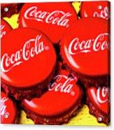 Coca Cola Caps Acrylic Print