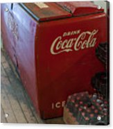 Coca-cola Chest Cooler General Store Acrylic Print