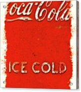 Coca-cola Cooler Acrylic Print