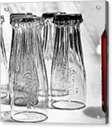 Coca-cola Glasses And Can - Selective Color By Kaye Menner Acrylic Print