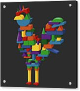 Cock Block Farm Rooster Acrylic Print