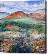 Cockscomb Butte Sedona Arizona Usa 2003  Acrylic Print