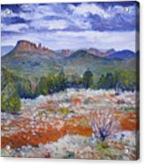 Cockscomb Butte West Sedona Arizona Usa 2002  Acrylic Print