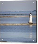 Cockspur Island Lighthouse With Jetty Acrylic Print