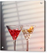 Cocktails With Strainer Acrylic Print