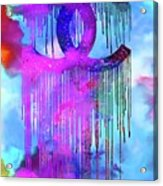 Coco Chanel Liquidated Logo Colorful Acrylic Print