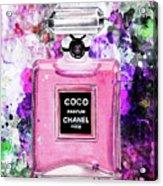 Coco Chanel Parfume Pink Acrylic Print