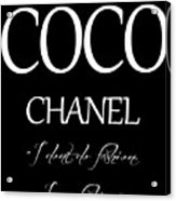 Coco Chanel Quote Acrylic Print