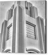 Cocoa Art Deco-2 Bw Acrylic Print