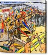 Cocoa Beach Pier/surf Festavil Acrylic Print