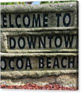 Cocoa Beach Welcome Sign Acrylic Print