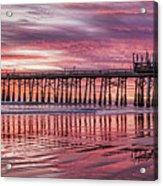 Cocoa Pier Sunrise Acrylic Print