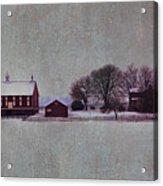 Codori Farm At Gettysburg In The Snow Acrylic Print