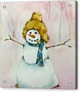 Cody's First Frosty Acrylic Print
