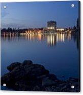 Coeur D Alene Skyline Night Acrylic Print