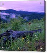 Coeur D'alene Mountains Acrylic Print