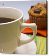 Coffee And Chocolate Muffin Acrylic Print