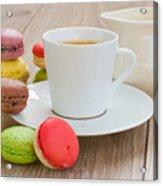 Coffee  And Macaroons Acrylic Print