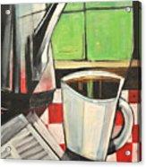 Coffee And Morning News Acrylic Print