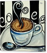 Coffee At The Cafe Acrylic Print